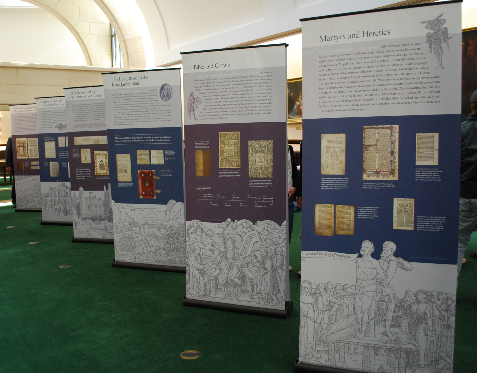Exhibition Stand Wall Panels : Manifold greatness inside take on a folger