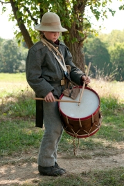 Drummer boy, Manassas 150th anniversary. Copyright Jeff Mauritzen and Discover Prince William & Manassas, VA.