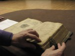 A family Bible from a workshop hosted at the University of Minnesota. Courtesy of the University of Minnesota.