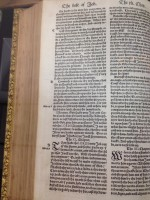 A passage from the book of Job in the Coverdale Bible, 1535. Image courtesy of the University of Dayton.