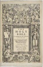 Bible. English. Authorized. London, 1611. Folger Shakespeare Library.