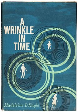 Cover of the 1962 edition of A Wrinkle in Time. Art design by Ellen Ermingard Raskin.