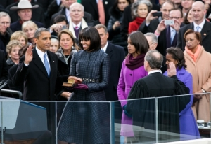 Supreme Court Chief Justice John Roberts administers the oath of office to President Barack Obama on Jan. 21, 2013. (Official White House Photo by Sonya N. Hebert)