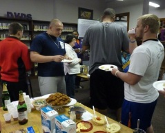 Missouri Valley College students sampling food