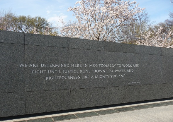 Inscription at the King Memorial. April 8, 2013.