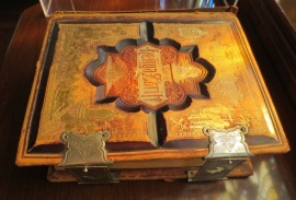 Swedish pulpit Bible from a Swedish Lutheran congregation in Naugatuck