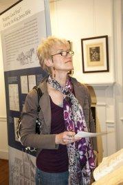 Exhibit visitor. Photos by Julia Ciccio.