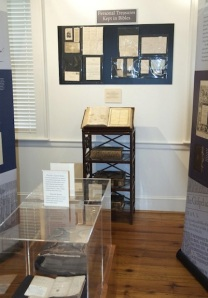 Family Bibles on display, Harford Community College. Julia Ciccio.
