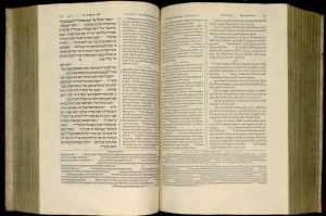 Plantin Polyglot Bible, multiple languages, 1568-1572. Harry Ransom Center, University of Texas at Austin.